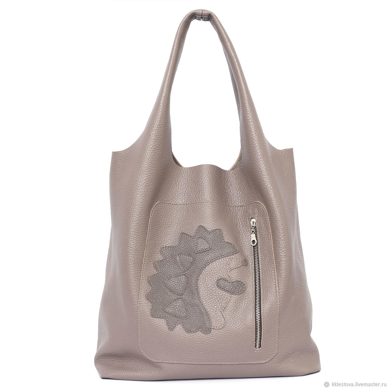 Handbags handmade. Livemaster - handmade. Buy Taup Cappuccino Bag bag Medium Hedgehog Bag string Bag shopper Mike hobo.