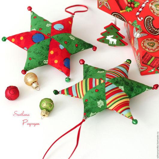 Текстильные новогодние игрушки от мастерской Солнце на нитке (Светлана Погосян)