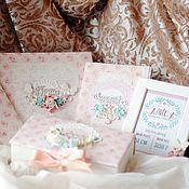 Подарки к праздникам ручной работы. Ярмарка Мастеров - ручная работа Детский набор для девочки Нежнее нежного. Handmade.