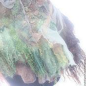 Аксессуары ручной работы. Ярмарка Мастеров - ручная работа палантин валяный шелковый. Handmade.