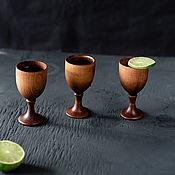 Посуда handmade. Livemaster - original item Set of glasses (stacks) on a leg made of Siberian cedar RN7. Handmade.