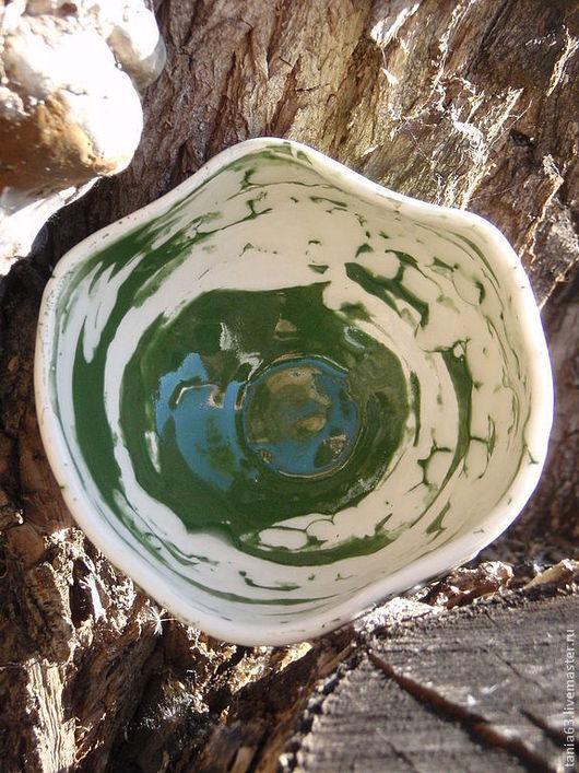 """Пиалы ручной работы. Ярмарка Мастеров - ручная работа. Купить Пиала керамическая """"Зелёный чай"""". Handmade. Зеленый, Керамика"""