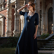 Одежда ручной работы. Ярмарка Мастеров - ручная работа Платье Doroti,  длинное из альпаки. Handmade.