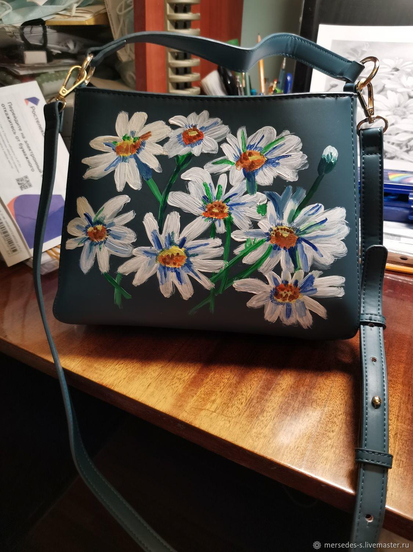 Классическая сумка с рисунком Ромашки, Классическая сумка, Москва,  Фото №1