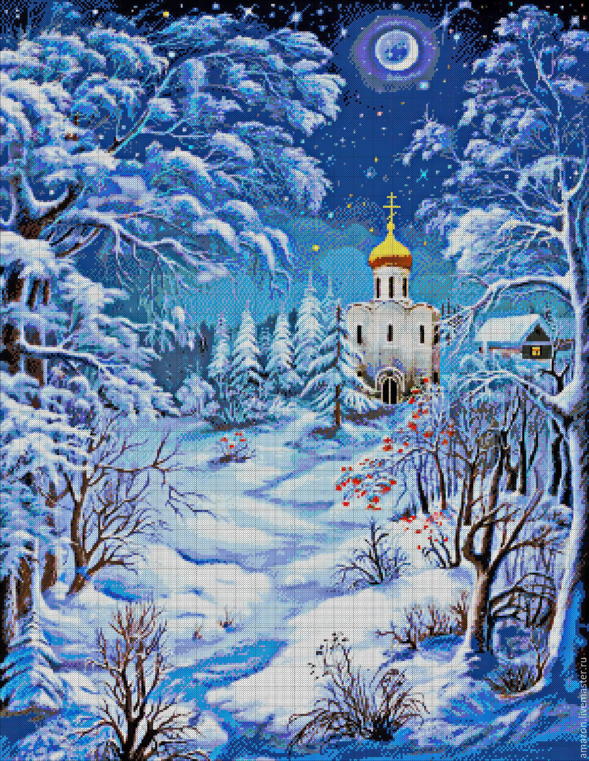 Kit embroidery with beads 'the Night before Christmas' hood. In . Tsyganov, Creator\'s Kit, Sterlitamak,  Фото №1