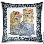 Для дома и интерьера handmade. Livemaster - original item Cushion batik