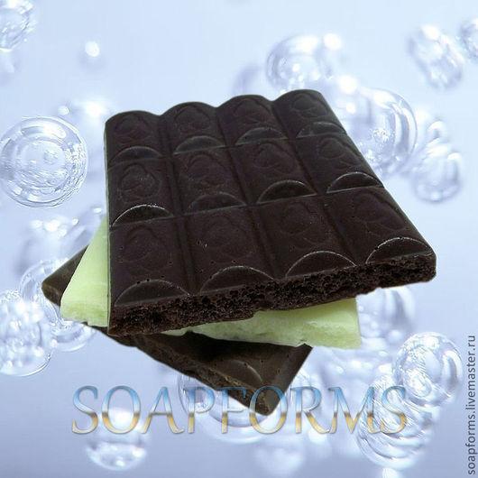 """Силиконовая форма для мыла """"Шоколад пористый""""\r\nНа фото готовое мыло."""