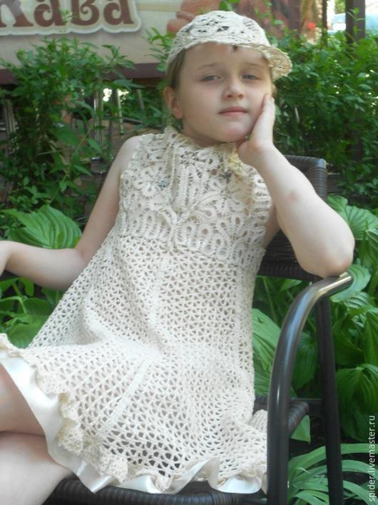 Одежда для девочек, ручной работы. Ярмарка Мастеров - ручная работа. Купить Платье для девочки  НЕЖНОЕ. Handmade. Бежевый