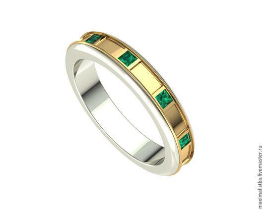 """Кольца ручной работы. Ярмарка Мастеров - ручная работа. Купить Кольцо """"EMERALD"""" с изумрудами из золота, золотое, золото, изумруд. Handmade."""