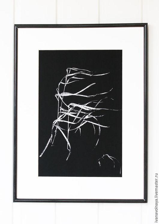"""Фотокартины ручной работы. Ярмарка Мастеров - ручная работа. Купить Черно-белая фотография """"Зимний ветер"""". Фотокартина. Фото для интерьера. Handmade."""