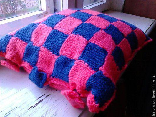 """Текстиль, ковры ручной работы. Ярмарка Мастеров - ручная работа. Купить Подушка """"Лесные ягоды"""". Handmade. Разноцветный, подушка, пряжа"""