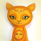 Куклы и игрушки ручной работы. Ярмарка Мастеров - ручная работа Игрушка Кошка. Тёплое Солнышко. Handmade.