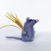 Мягкие игрушки ручной работы. Ярмарка Мастеров - ручная работа Мышка игрушка мышь крыса вязаная мышь крыса спицами. Handmade.