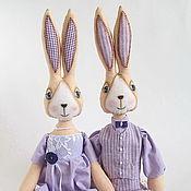 Куклы и игрушки ручной работы. Ярмарка Мастеров - ручная работа Лавандовые зайцы. Handmade.