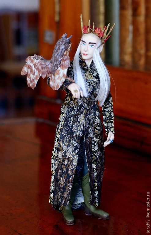 Портретные куклы ручной работы. Ярмарка Мастеров - ручная работа. Купить Трандуил: Разговор (портрет Ли Пейса в роли Трандуила). Handmade.