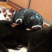 """Для домашних животных, handmade. Livemaster - original item Одежда для кошек """"Боди Антиметка Пузыри 3D"""". Handmade."""