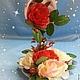 Топиарии ручной работы. Ярмарка Мастеров - ручная работа. Купить Цветочная чашка Королева цветов. Handmade. Цветочная чашка, сувенир