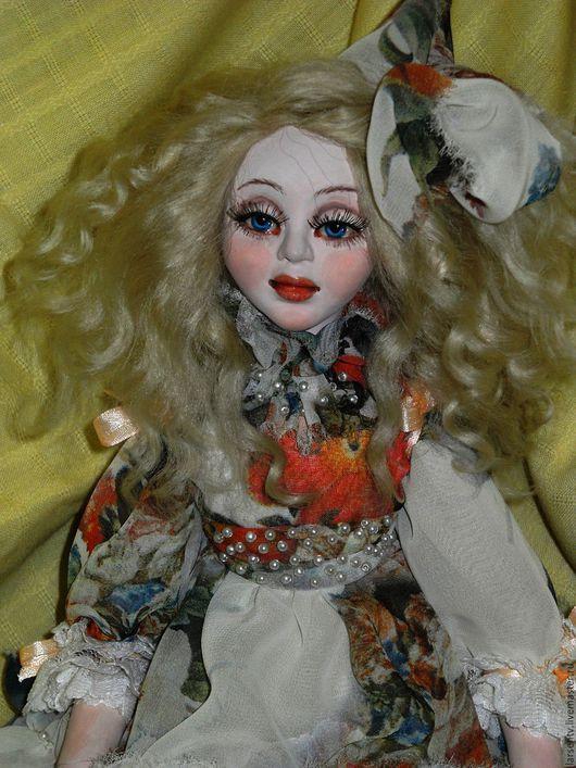 Коллекционные куклы ручной работы. Ярмарка Мастеров - ручная работа. Купить Авторская кукла Малышка Марта. Handmade. Кремовый, кружево
