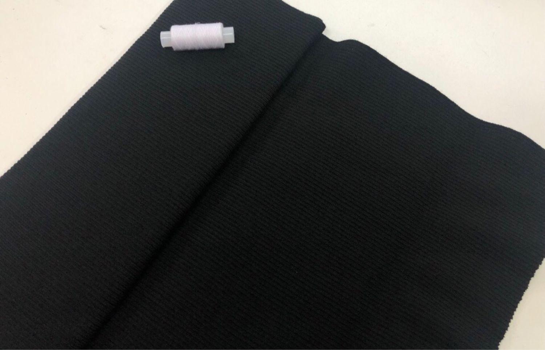 Трикотаж резинка манжетный: чёрный, Шитье, Ижевск, Фото №1
