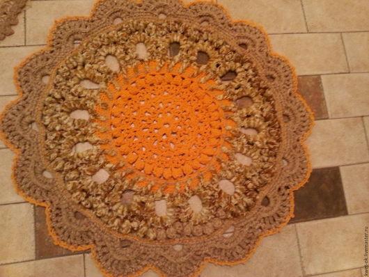 Текстиль, ковры ручной работы. Ярмарка Мастеров - ручная работа. Купить шерстяной ковер крючком вязание. Handmade. Комбинированный
