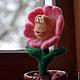 """Персональные подарки ручной работы. Заказать Подарок на 8 марта игрушка войлочная цветок """"Застенчивая Анемона"""". Мягкая красота. Ярмарка Мастеров."""