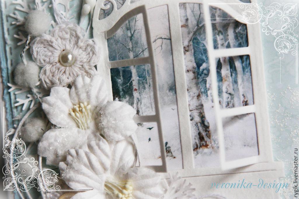 Новогодняя открытка с окном