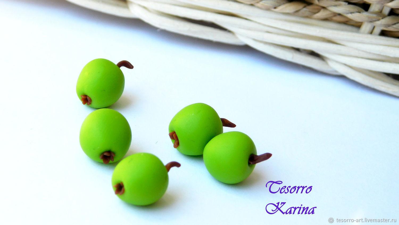Яблоки зеленые из полимерной глины, Бусины, Солнечногорск,  Фото №1