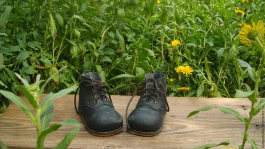 Одежда для кукол ручной работы. Ярмарка Мастеров - ручная работа. Купить Зеленые ботиночки. Handmade. Хаки, кожаная обувь
