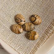 Кабошоны ручной работы. Ярмарка Мастеров - ручная работа Яшма песочная кабошон овал 16х12 мм яшма пейзажная. Handmade.