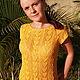 """Топы ручной работы. Ярмарка Мастеров - ручная работа. Купить Кофта желтая вязаная спицами """"Солнечный день"""". Handmade. Желтый"""