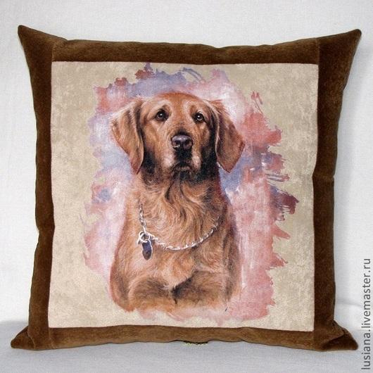 Подушку с изображением собаки можно заказать в нужном размере, дизайне и цветовом решении.\r\nСрок изготовления 3-5 дней