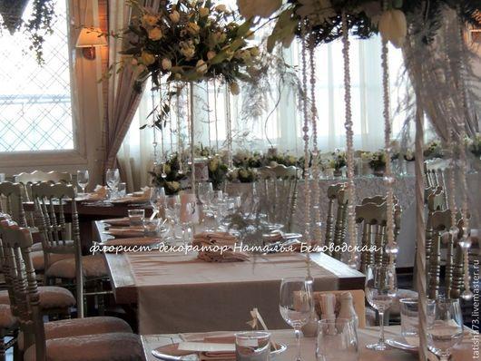 Свадебные цветы ручной работы. Ярмарка Мастеров - ручная работа. Купить Зимняя свадьба. Handmade. Белый, зимняя свадьба, свечи