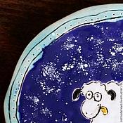 Посуда ручной работы. Ярмарка Мастеров - ручная работа тарелочка с овечкой. Handmade.