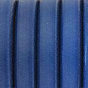 Материалы для творчества ручной работы. Ярмарка Мастеров - ручная работа Кожаный шнур регализ, синий, 10х7мм Испания. Handmade.