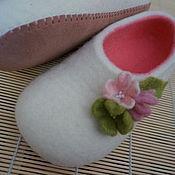 Обувь ручной работы. Ярмарка Мастеров - ручная работа Тапочки войлочные. Handmade.
