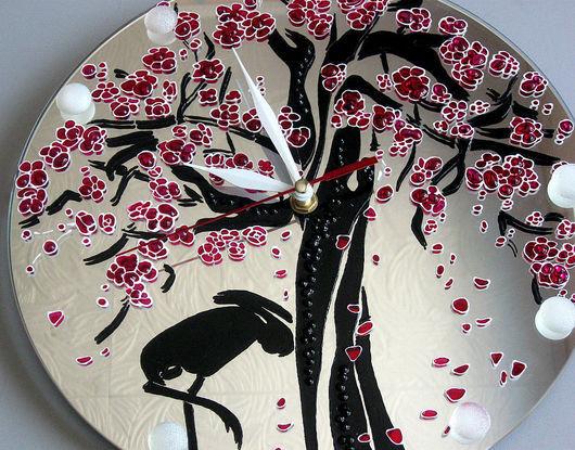 """Часы для дома ручной работы. Ярмарка Мастеров - ручная работа. Купить Часы """"Райское дерево"""". Handmade. Часы, зеркало"""