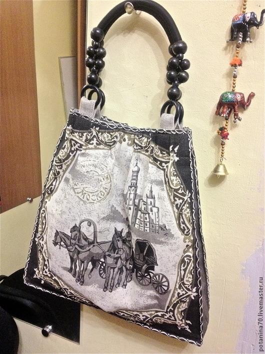 Шитье ручной работы. Ярмарка Мастеров - ручная работа. Купить Набор для шитья сумки. Handmade. Серый, ручки для сумки