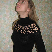 Одежда ручной работы. Ярмарка Мастеров - ручная работа Свитер Черная роза. Handmade.