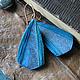серьги из полимерной глины `Южное море`, автор - Алина Логинова (украшения `Брусника`).