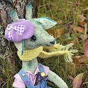 Мягкие игрушки ручной работы. Ярмарка Мастеров - ручная работа Жираф Хулиганчик с рогаткой. Handmade.
