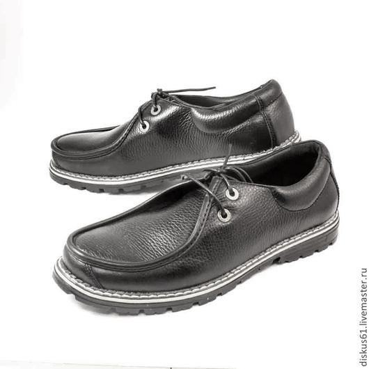 Обувь ручной работы. Ярмарка Мастеров - ручная работа. Купить Туфли мужские М-015. Handmade. Черный, туфли мужские