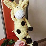 Мягкие игрушки ручной работы. Ярмарка Мастеров - ручная работа Плюшевый жирафик. Handmade.