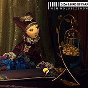 Куклы и игрушки ручной работы. Ярмарка Мастеров - ручная работа авторская кукла Гиза и ее Райская Птичка. Handmade.