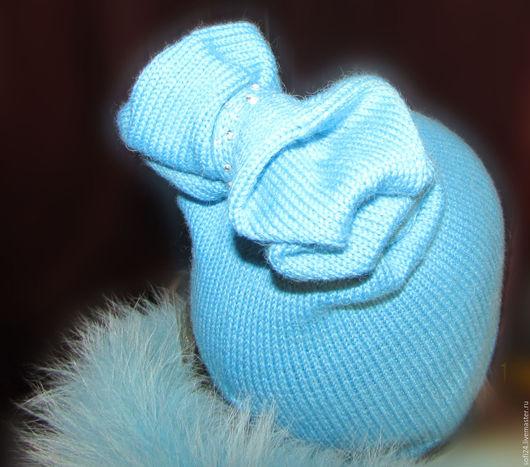 Шапки ручной работы. Ярмарка Мастеров - ручная работа. Купить Шапка Бант. Handmade. Тёмно-бирюзовый, натуральная шапочка
