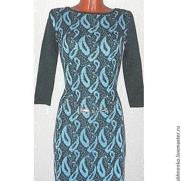 Одежда ручной работы. Ярмарка Мастеров - ручная работа Платье вязаное Восточный огурец. Handmade.