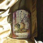 """Доски ручной работы. Ярмарка Мастеров - ручная работа Панно разделочная доска""""De oliva"""". Handmade."""