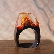"""Кольца ручной работы. Ярмарка Мастеров - ручная работа Кольцо """"Извержение вулкана"""". Handmade."""