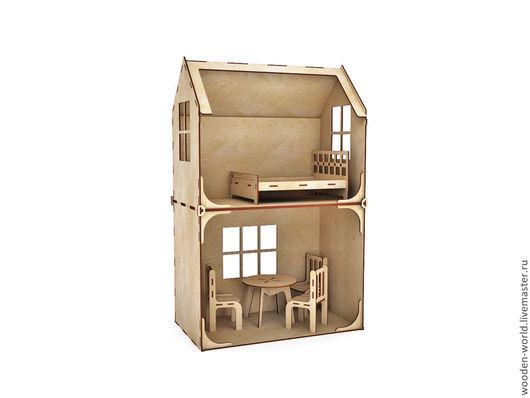 Декупаж и роспись ручной работы. Ярмарка Мастеров - ручная работа. Купить Модульный Кукольный домик 2 этажа (без мебели). Handmade.