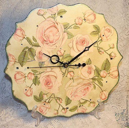 """Часы для дома ручной работы. Ярмарка Мастеров - ручная работа. Купить Часы настенные """"Букет для любимой"""". Handmade. Часы настенные"""