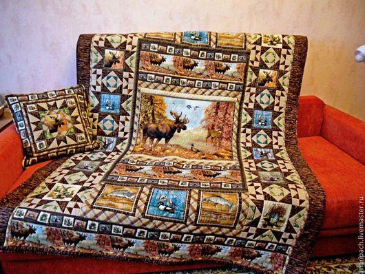 """Текстиль, ковры ручной работы. Ярмарка Мастеров - ручная работа. Купить лоскутное одеяло """"Осень в лесу"""". Handmade. Лоскутное одеяло"""